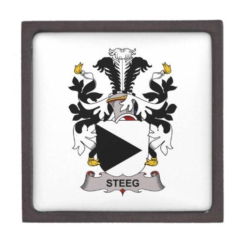 Escudo de la familia de Steeg Caja De Regalo De Calidad