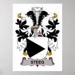 Escudo de la familia de Steeg Poster