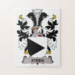 Escudo de la familia de Steeg Rompecabezas Con Fotos