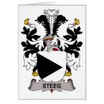 Escudo de la familia de Steeg Tarjetón