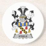 Escudo de la familia de Steele Posavasos Personalizados