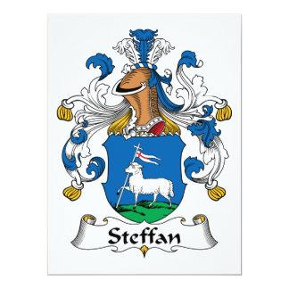 Escudo de la familia de Steffan Invitación 16,5 X 22,2 Cm