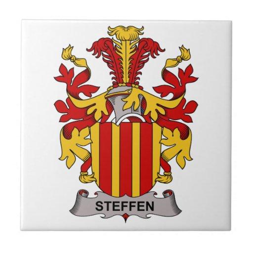 Escudo de la familia de Steffen Azulejo Cuadrado Pequeño