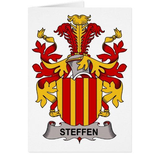Escudo de la familia de Steffen Tarjeta De Felicitación