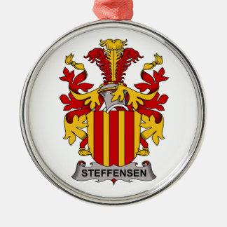 Escudo de la familia de Steffensen Adorno Navideño Redondo De Metal