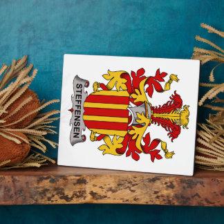 Escudo de la familia de Steffensen Placa De Madera