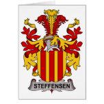 Escudo de la familia de Steffensen Tarjetas