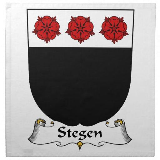 Escudo de la familia de Stegen Servilleta De Papel