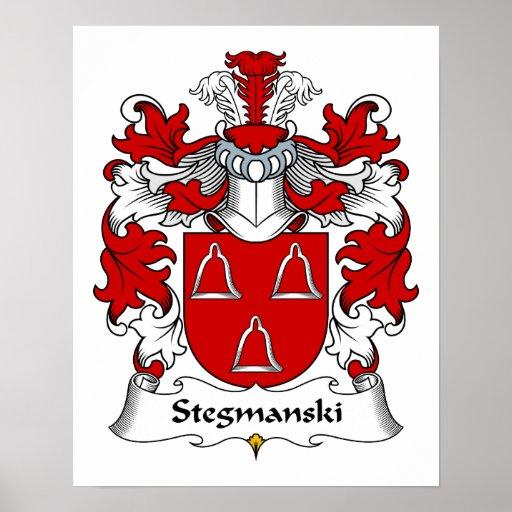 Escudo de la familia de Stegmanski Póster