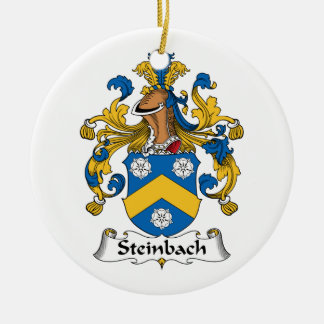 Escudo de la familia de Steinbach Adorno Navideño Redondo De Cerámica