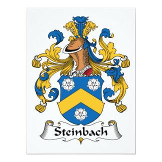 Escudo de la familia de Steinbach Invitación 16,5 X 22,2 Cm
