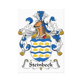 Escudo de la familia de Steinbeck Lona Envuelta Para Galerias