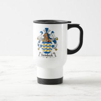 Escudo de la familia de Steinbeck Tazas De Café