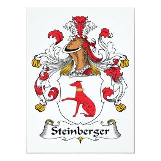 Escudo de la familia de Steinberger Invitación 16,5 X 22,2 Cm
