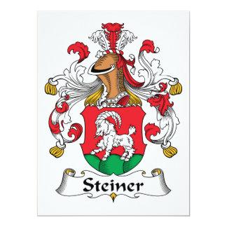 Escudo de la familia de Steiner Invitación 16,5 X 22,2 Cm