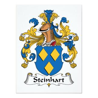 Escudo de la familia de Steinhart Invitación 16,5 X 22,2 Cm