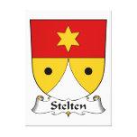 Escudo de la familia de Stelten Lona Envuelta Para Galerías