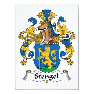 Escudo de la familia de Stengel Invitación 16,5 X 22,2 Cm