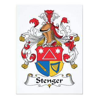 Escudo de la familia de Stenger Invitación 16,5 X 22,2 Cm