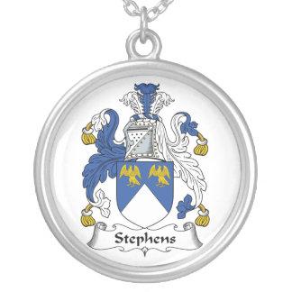 Escudo de la familia de Stephens Pendiente Personalizado