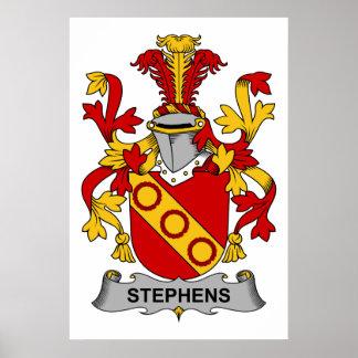 Escudo de la familia de Stephens Poster