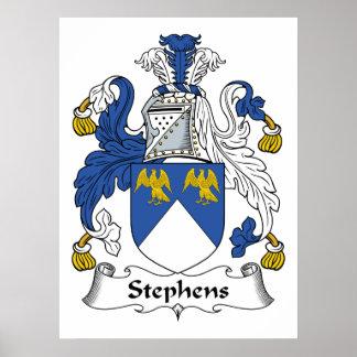 Escudo de la familia de Stephens Posters