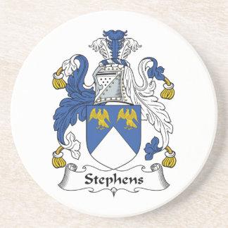 Escudo de la familia de Stephens Posavaso Para Bebida