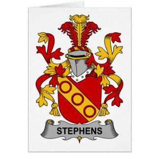 Escudo de la familia de Stephens Felicitación