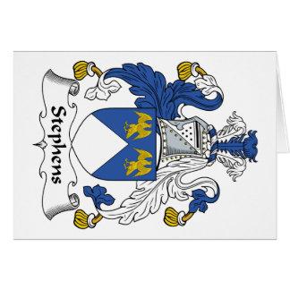 Escudo de la familia de Stephens Felicitaciones