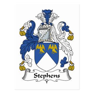 Escudo de la familia de Stephens Tarjetas Postales