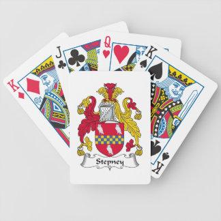 Escudo de la familia de Stepney Baraja Cartas De Poker