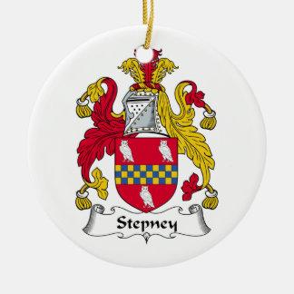 Escudo de la familia de Stepney Ornaments Para Arbol De Navidad