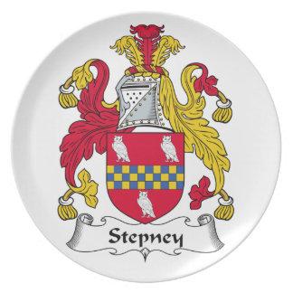 Escudo de la familia de Stepney Plato De Cena