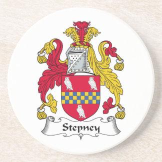 Escudo de la familia de Stepney Posavaso Para Bebida