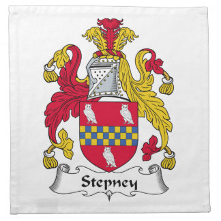 Escudo de la familia de Stepney Servilleta