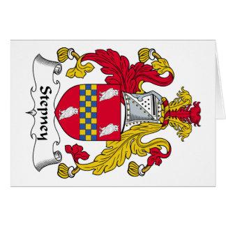 Escudo de la familia de Stepney Tarjeta