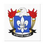 Escudo de la familia de Steptoe Impresión En Lona