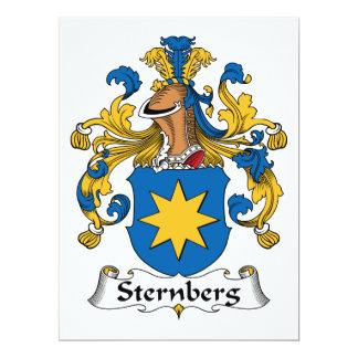 Escudo de la familia de Sternberg Invitación 16,5 X 22,2 Cm