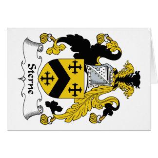 Escudo de la familia de Sterne Tarjeta