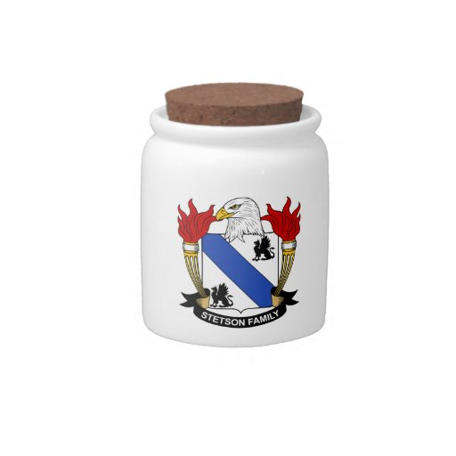 Escudo de la familia de Stetson Platos Para Caramelos