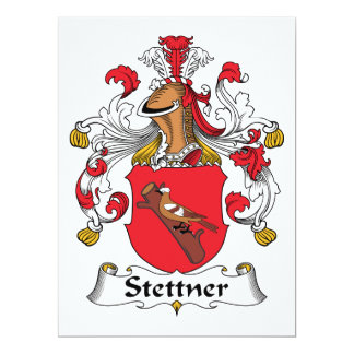 Escudo de la familia de Stettner Invitación 16,5 X 22,2 Cm