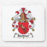 Escudo de la familia de Stettner Alfombrillas De Raton