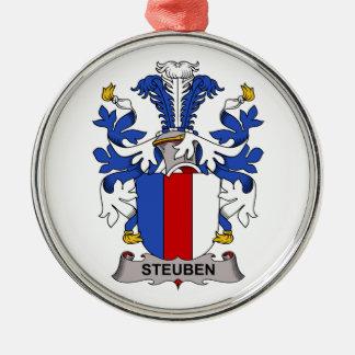Escudo de la familia de Steuben Adorno Navideño Redondo De Metal