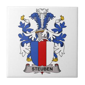 Escudo de la familia de Steuben Azulejo Cerámica