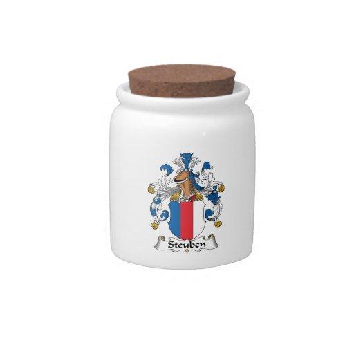 Escudo de la familia de Steuben Platos Para Caramelos