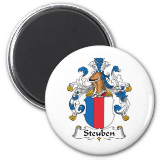 Escudo de la familia de Steuben Imán Redondo 5 Cm