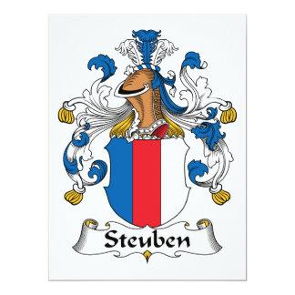 Escudo de la familia de Steuben Invitación 16,5 X 22,2 Cm