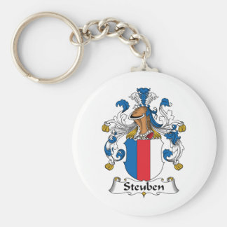 Escudo de la familia de Steuben Llavero Redondo Tipo Pin