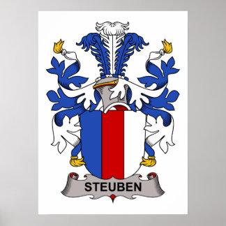 Escudo de la familia de Steuben Poster