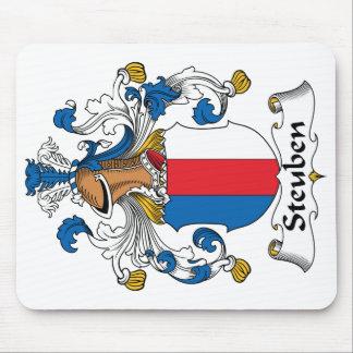 Escudo de la familia de Steuben Alfombrillas De Raton